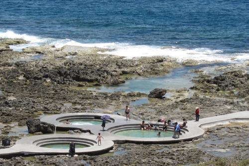 绿岛朝日温泉,世界三大海水温泉之一